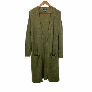 NWOT CENY Olive Green Duster Speckled Cardigan XS